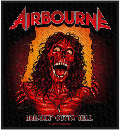 Airbourne Standard Patch - Breakin' Outa Hell (Loose)