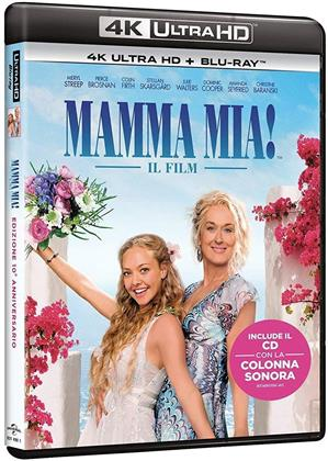 Mamma mia! (2008) (10th Anniversary Edition, 4K Ultra HD + Blu-ray + CD)