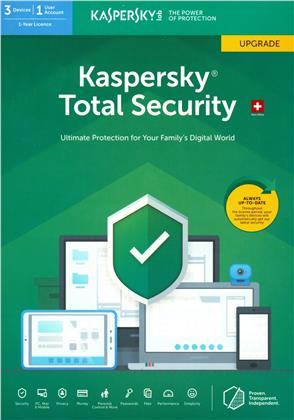 Kaspersky Total Security (3 PC) Upgrade [PC/Mac/Android]