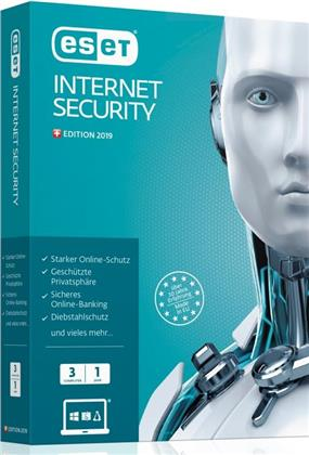 ESET Internet Security 2019 Edition 3 User CH (Code in a Box)