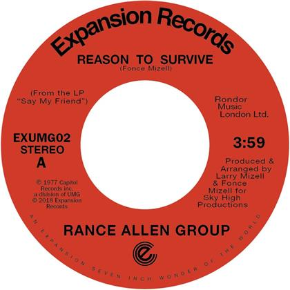 "Rance Allen Group - Reason To Survive /Peace Of Mind (Remastered, 7"" Single)"
