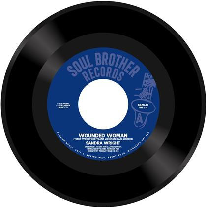 "Sandra Wright - Wounded Woman / Midnight Affair (Remastered, 7"" Single)"