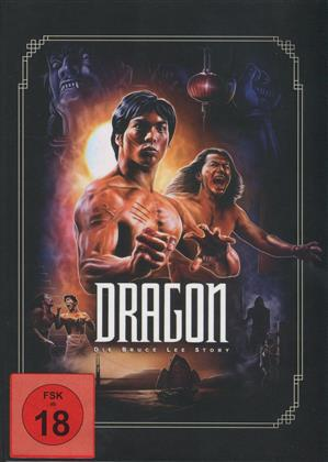 Dragon - Die Bruce Lee Story (1993) (Cover Artwork, Mediabook, Blu-ray + DVD)