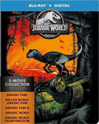 Jurassic World - 5-Movie Collection (Limited Edition, Steelbook, 5 Blu-rays)