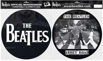The Beatles Turntable Slipmat Set - Drop T Logo & Crossing Silhouette