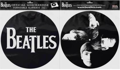 The Beatles Turntable Slipmat Set - Drop T Logo & Faces