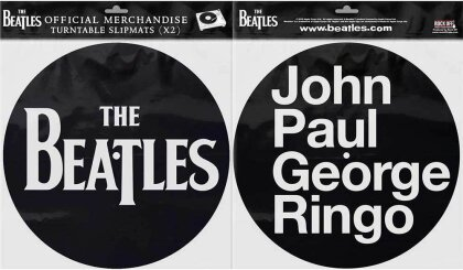 The Beatles Turntable Slipmat Set - Drop T Logo & JPGR