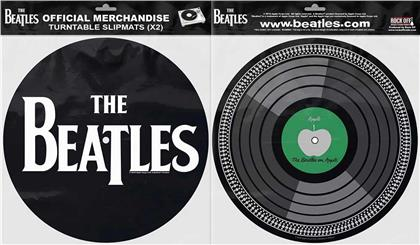 The Beatles Turntable Slipmat Set - Drop T Logo & Apple