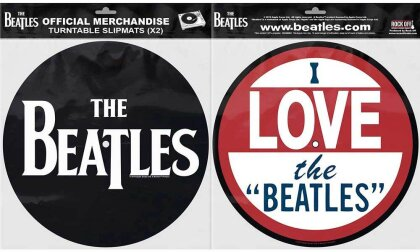 The Beatles Turntable Slipmat Set - Drop T Logo & Love