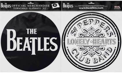 The Beatles Turntable Slipmat Set - Drop T Logo & Sgt Pepper Drum