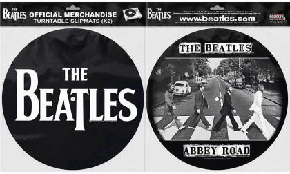 The Beatles Turntable Slipmat Set - Drop T Logo & Abbey Road