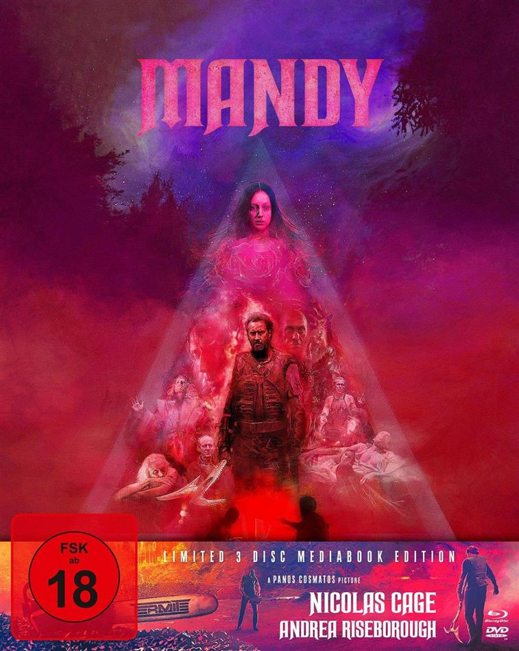 Mandy (2018) (Cover A, Limited Edition, Mediabook, Blu-ray + 2 DVDs)
