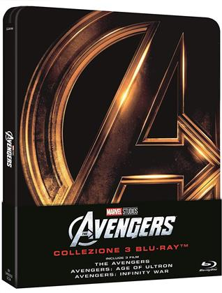 The Avengers 1-3 (Steelbook, 3 Blu-ray)