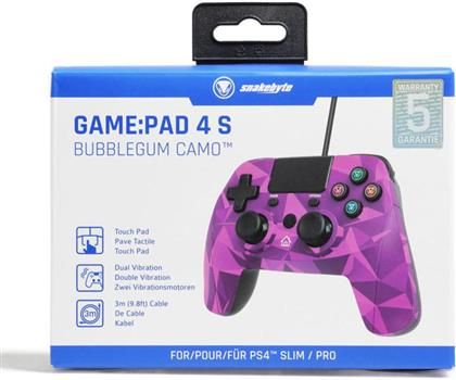 PS4 Controller Game:Pad 4S wirel. bubbl Snakebyte Bluetooth bubblegum camo