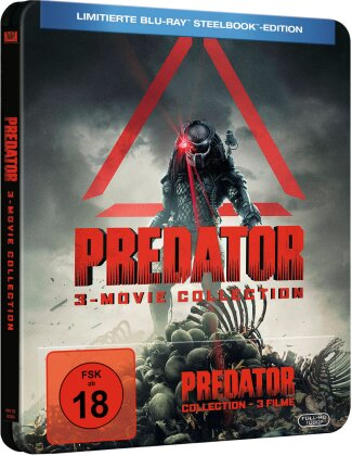 Predator - 3-Movie Collection (Limited Edition, Steelbook, 3 Blu-rays)