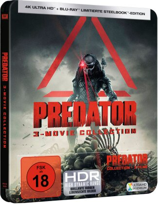 Predator - 3-Movie Collection (Limited Edition, Steelbook, 3 4K Ultra HDs + 3 Blu-rays)