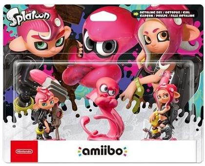 amiibo Splatoon Character - Oktoling Girl,Boy & Octopus Set