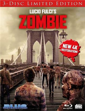 Zombie (1979) (Cover A, 4K Mastered, Limited Edition, 3 Blu-rays)