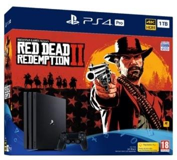 Sony Playstation 4 1TB PRO + Red Dead redemption 2 Bundle
