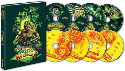 The Toxic Avenger - Tétralogie (Collector's Edition, Mediabook, 4 Blu-rays + 4 DVDs)