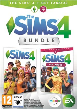 The Sims 4 Bundle + Get Famous Addon - (Code in a Box)