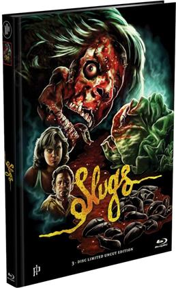 Slugs (1988) (Cover D, Limited Edition, Mediabook, Uncut, Blu-ray + 2 DVDs)