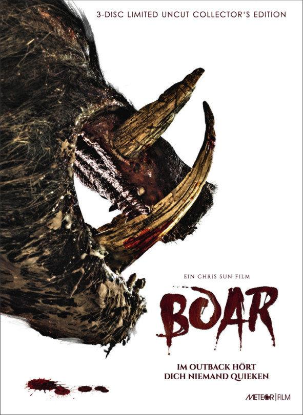 Boar (2017) (Cover A, Collector's Edition, Limited Edition, Mediabook, Uncut, Blu-ray + 2 DVDs)