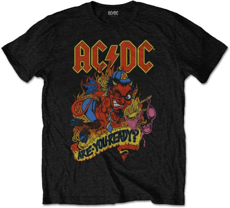 AC/DC Unisex Tee - Are You Ready - Grösse M