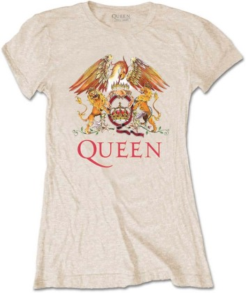 Queen Ladies Tee - Classic Crest