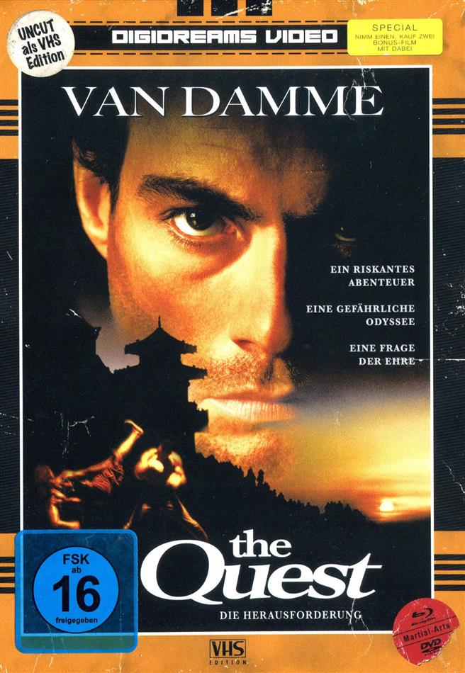 The Quest (1996) (VHS-Edition, Limited Edition, Mediabook, Uncut, 2 Blu-rays + 2 DVDs)