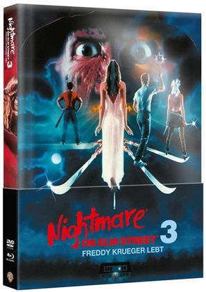 Nightmare on Elm Street 3 - Freddy Krueger lebt (1987) (Wattiert, Limited Edition, Mediabook, Blu-ray + DVD)