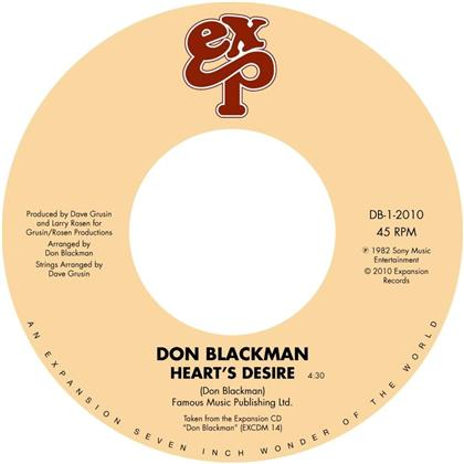 "Don Blackman - Heart's Desire / Holding You, Loving You (7"" Single)"