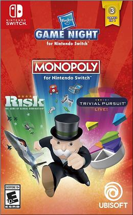Hasbro Game Night - Monopoly / Risk / Trivial Pursuit Live!