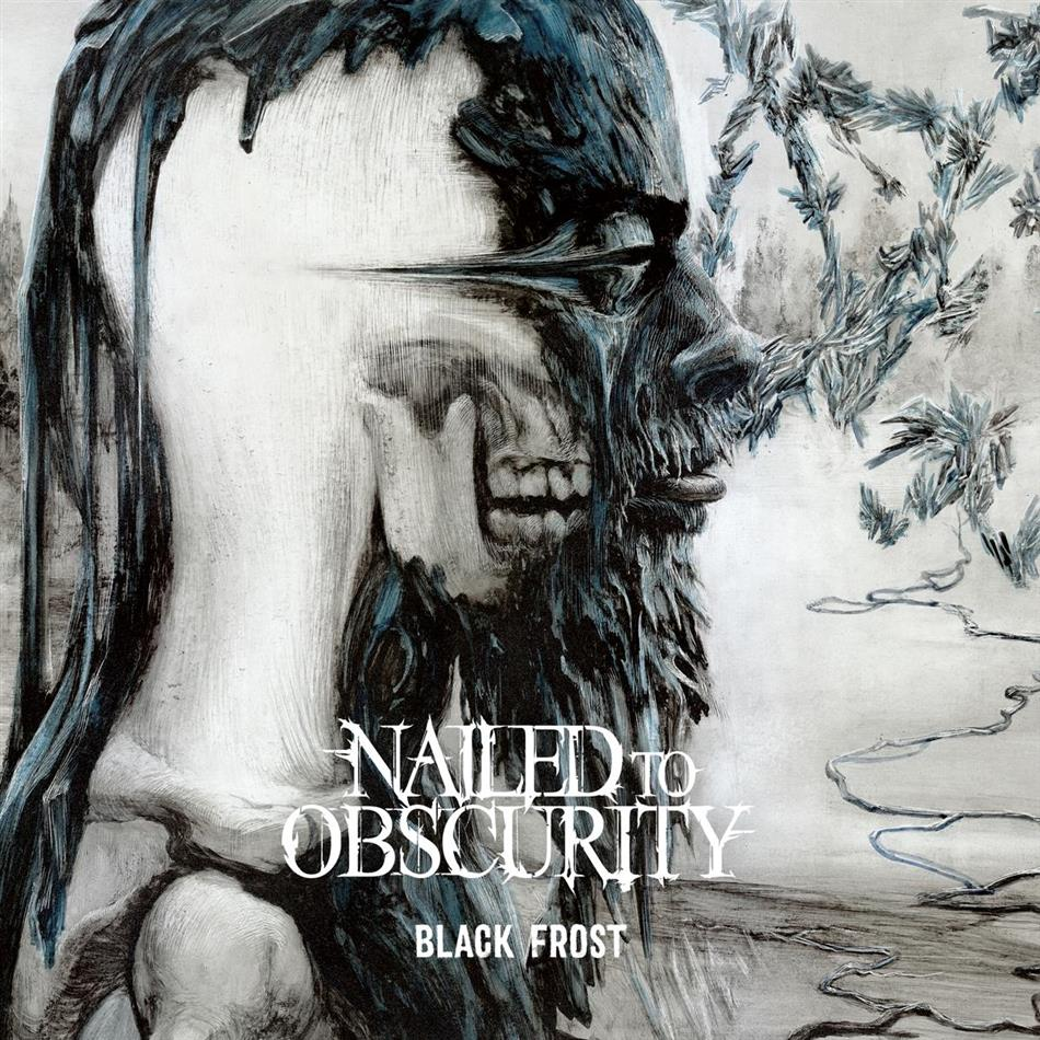 Nailed To Obscurity - Black Frost (White/Arctic Blue Splattered Vinyl, LP)