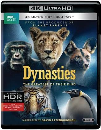 Dynasties - The Greatest of their Kind (2018) (BBC Earth, 2 4K Ultra HDs + 2 Blu-rays)