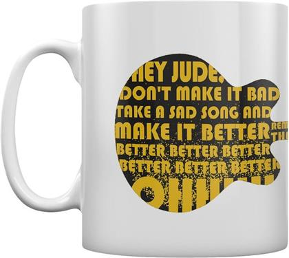 Beatles Tasse - Lyrics By Lennon & Mccartney, Hey Jude Guitar