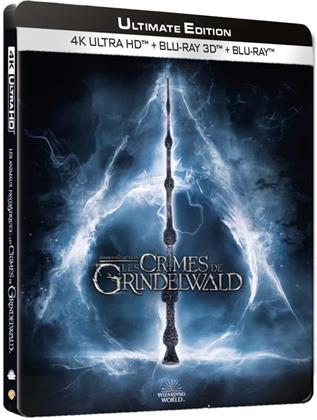 Les animaux fantastiques 2 - Les crimes de Grindelwald (2018) (Kinoversion, Limited Edition, Langfassung, Steelbook, 4K Ultra HD + Blu-ray 3D + Blu-ray)
