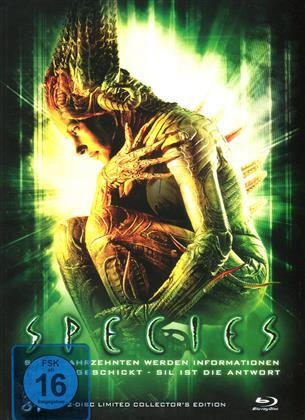 Species (1995) (Cover C, Collector's Edition, Limited Edition, Mediabook, Blu-ray + DVD)