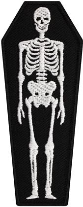 Skeleton Coffin - Patch