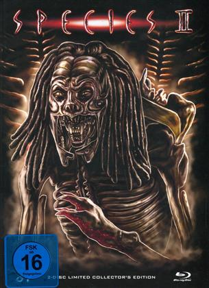 Species 2 (1998) (Cover A, Collector's Edition, Limited Edition, Mediabook, Blu-ray + DVD)