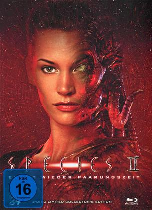 Species 2 (1998) (Cover B, Collector's Edition, Limited Edition, Mediabook, Blu-ray + DVD)