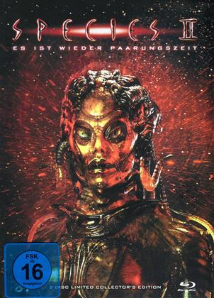 Species 2 (1998) (Cover C, Collector's Edition, Limited Edition, Mediabook, Blu-ray + DVD)