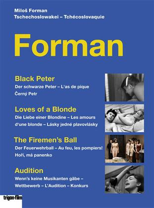 Forman - Black Peter / Loves of a Blonde / The Firemen's Ball / Audition (3 DVD)