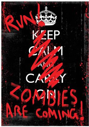 Run! Zombies Are Coming! - Mini Poster