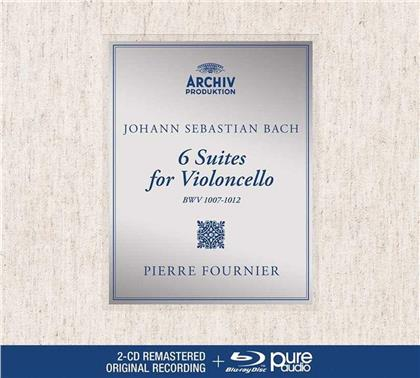 Johann Sebastian Bach (1685-1750) & Pierre Fournier - Cello Suites - Blu-ray Pure Audio (2 CDs + Blu-ray)