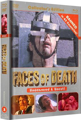 Faces of Death (1978) (Cover B, Unzensiert, Collector's Edition, Limited Edition, Mediabook, Uncut, Blu-ray + DVD)