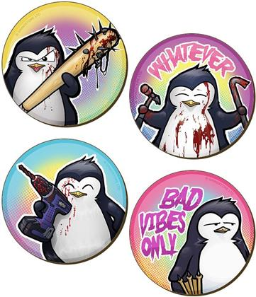Psycho Penguin - Bad Vibes Only 4 Piece Coaster Set