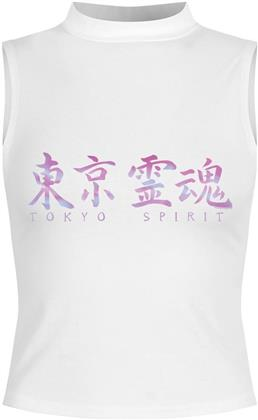 Tokyo Spirit - Kanji - Ladies High Neck Crop Top