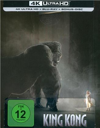 King Kong (2005) (Extended Edition, Kinoversion, Limited Edition, Steelbook, 4K Ultra HD + 2 Blu-rays)