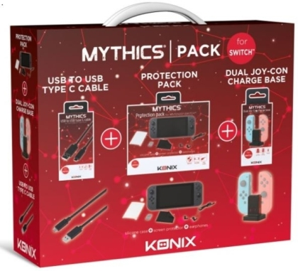 KONIX Accessories Pack for Nintendo Switch